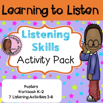 Listening Skills Activity Pack- 9 Posters, Workbook and 7 More Activities