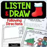 Listen and Draw Christmas Listening Activity