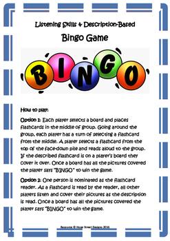 Listening Skills & Description BINGO - Building language processing