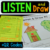 Listen and Draw QR Code  Follow Directions Listening Compr