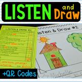 Listen and Draw QR Code  Follow Directions Listening Compr