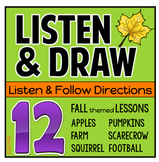 Listen and Draw Fall Autumn Following Directions