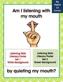 Listening Skills Literacy Posters for Primary Grades