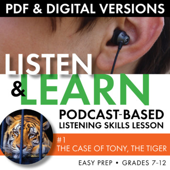 Listening Skills Podcast Activity, Listen & Learn #1, Distance Learning, CCSS