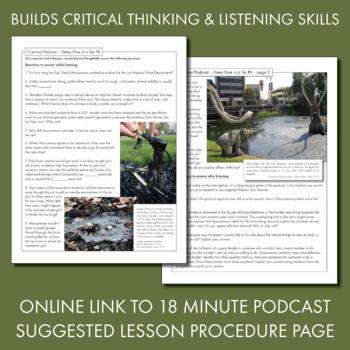 Listening Skills, Podcast-Based Listening Activity, Listen & Learn #2, CCSS