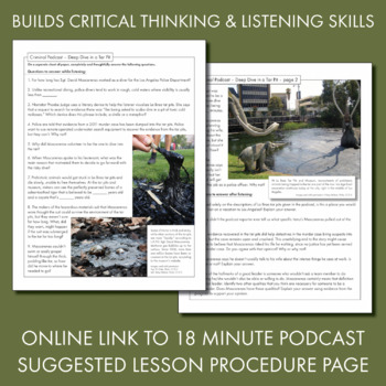 Listening Skills Podcast Activity, Listen & Learn #2, Distance Learning, CCSS