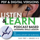Listening Skills Podcast Activity, Listen & Learn #4, Distance Learning, CCSS