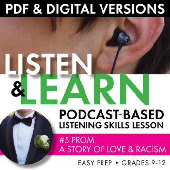 Listening Skills Podcast Activity, Listen & Learn #5, Distance Learning, CCSS