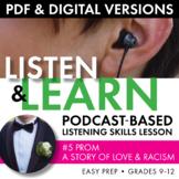 Listening Skills Podcast Activity, Listen & Learn #5, PDF & Google Drive, CCSS