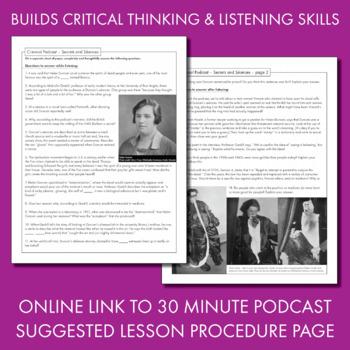 Listening Skills, Podcast-Based Listening Activity, Listen & Learn #6, CCSS