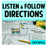 Listen and Draw Listening Comprehension Spring