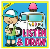 Listen and Draw Listening Comprehension Activity Summer