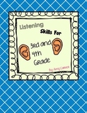 Listening Skills for 3rd and 4th Grade