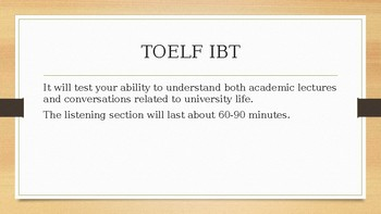 Listening Skills for TOEFL iBT