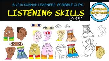 Listening Skills scribble clips