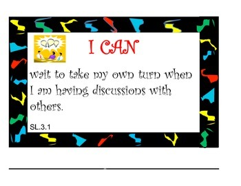 "Common Core Listening & Speaking ""I Can Posters"" (Lightning)"
