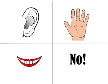 Listening/Speaking Game for ELL (Ear, Hand, Mouth, No)