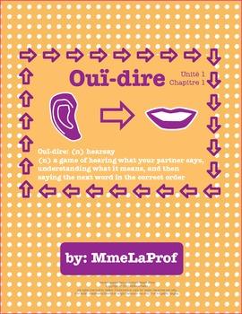 Hearsay: Listening & Speaking Pair Activity: Beginner French: Unit 1, Chapter 1