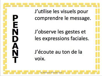 Listening, Speaking, Reading & Writing Strategies - French!