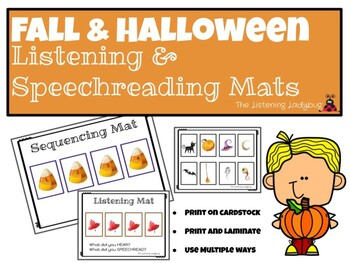 Listening & Speechreading: Fall and Halloween