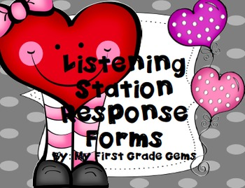 Listening Station Response Forms FREEBIE!