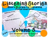 Listening Stories Volume 5: School Social Situations NO PREP