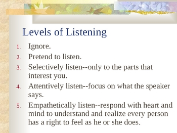 Listening Strategies in Health Care