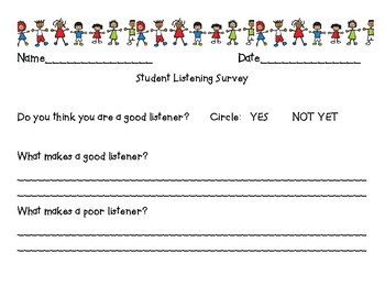 Listening Survey for Students