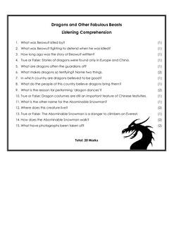 Listening Test - Dragons