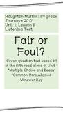 """Listening Test: """"Fair or Foul"""""""