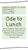 "Listening Test ""Ode to Lunch"""
