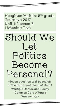 "Listening Test: ""Should We Let Politics Become Personal?"""