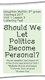 """Listening Test: """"Should We Let Politics Become Personal?"""""""