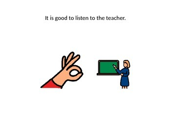 Listening To The Teacher Social Story