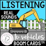 Listening To Vehicle Sounds BOOM CARDS™ No Print Hearing L