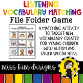 Listening Vocabulary Folder Game for Students with Autism & Special Needs