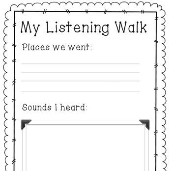 Listening Walk Worksheet
