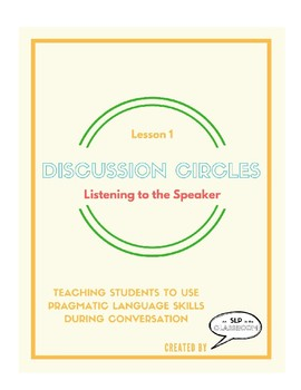 Listening With Care - Speaking & Listening Lesson Plan
