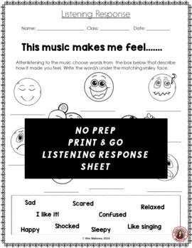 Music Listening Worksheet 1