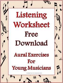 Music Activity: Music Listening Worksheet