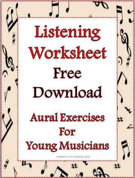 Music Aural Exercises and Listening Worksheet