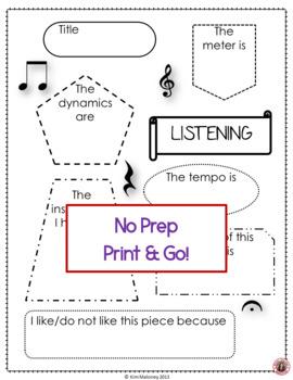 Music Listening Worksheet 2