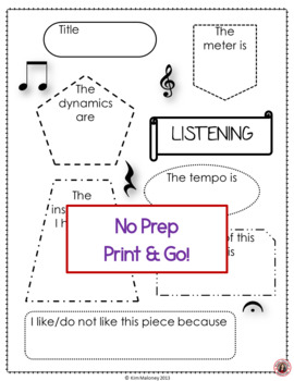 music listening worksheet 2 by musicteacherresources tpt. Black Bedroom Furniture Sets. Home Design Ideas