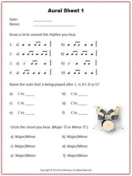 Music Listening Worksheets to Develop Aural Skills