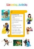 Listening activity (10 Disney songs)