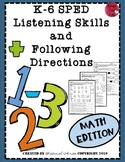 Listening and Following Directions - Math