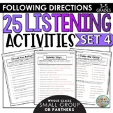 Listening and Following Directions Activities Set 4