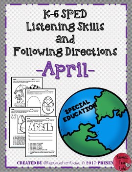 Listening and Following Directions - April