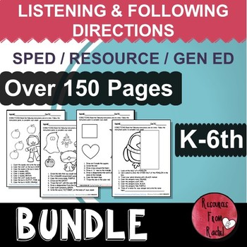 Listening and Following Directions - YEARLONG BUNDLE