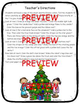 Listening and Following Directions ~ Christmas Themed